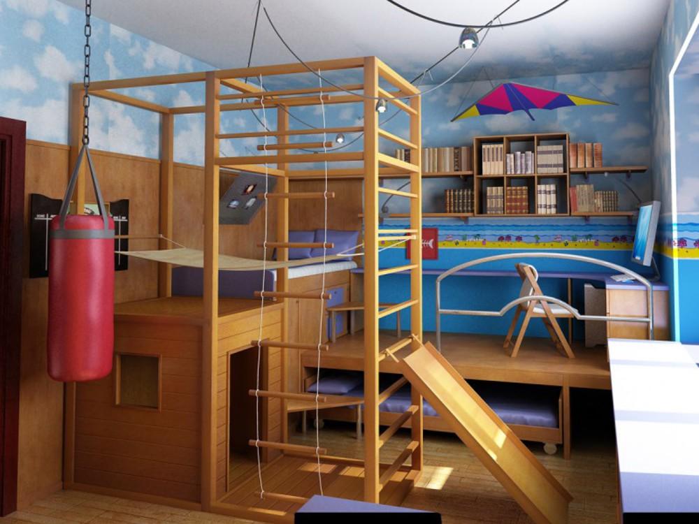 Детский комплекс в квартире своими руками 40