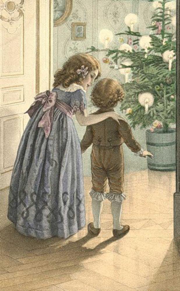 День, старые открытки 19 века