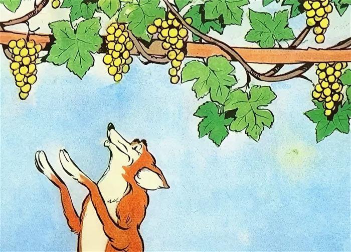 Картинка из басни лиса и виноград