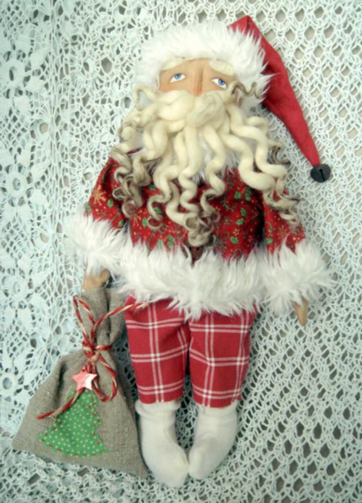 Дед мороз текстиль своими руками 200