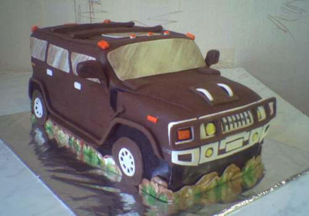 Торт джип из мастики пошагово фото