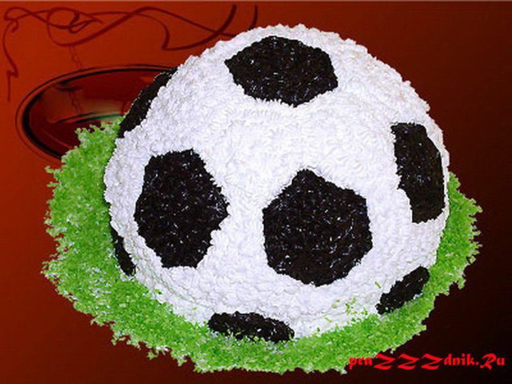 Торт в форме мяча в домашних условиях