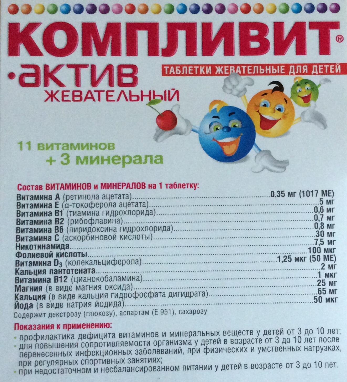 Аспартам в витаминах для детей