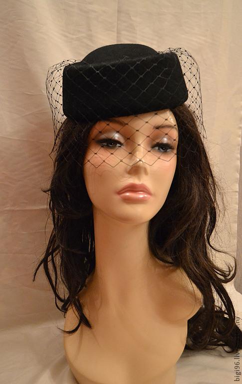 Как сшить шляпку-таблетку с вуалью 85