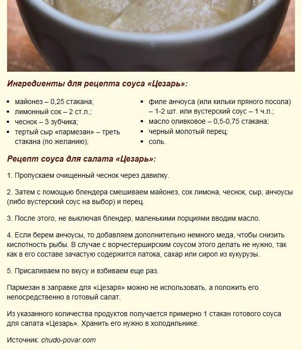 Классический рецепт с анчоусами, со сметаной, с майонезом, с горчицей.
