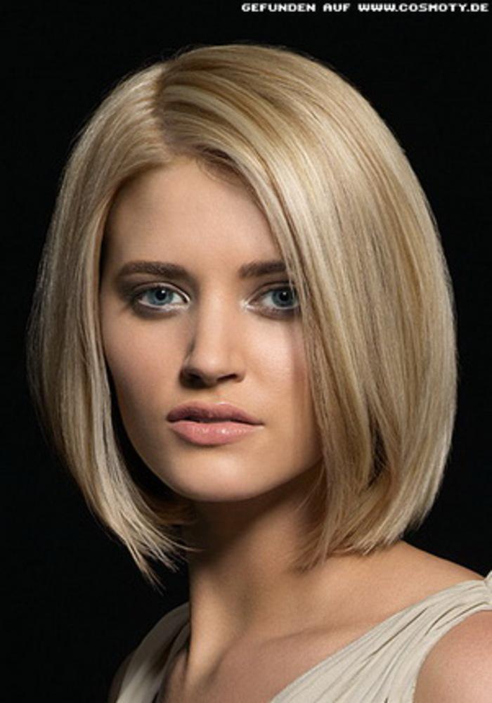 Причёска каре без челки