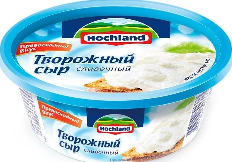 Творожный сливочный сыр хохланд для крема