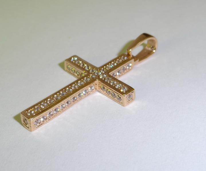 Крестик золото женский