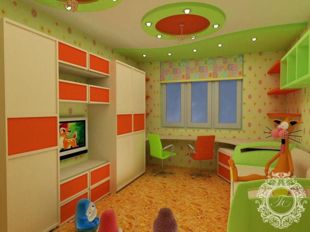 Ремонт в детской комнате своими руками для разнополых