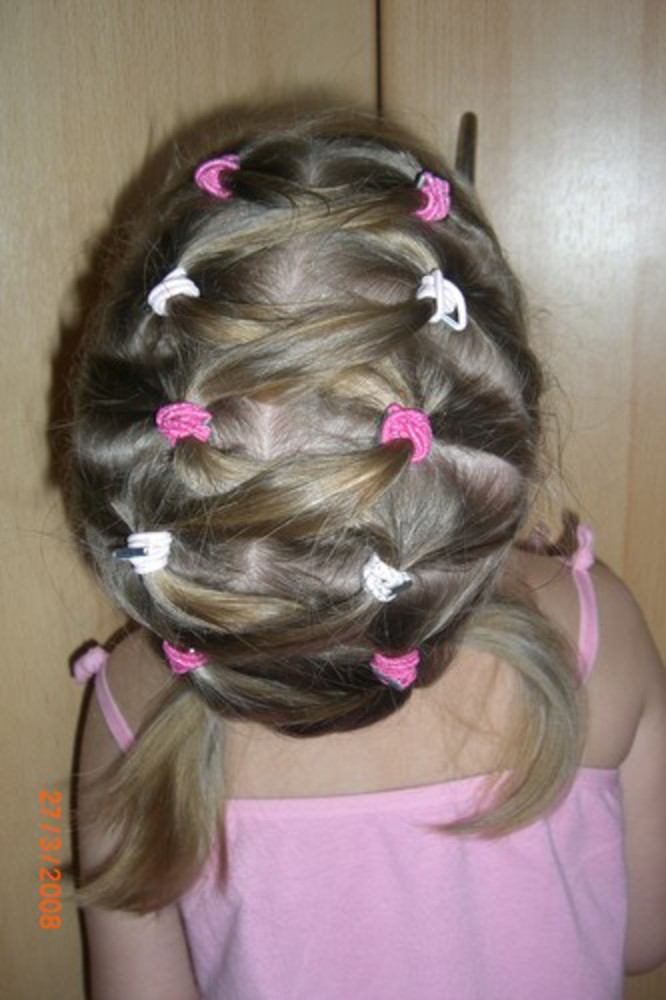 Прически с резинками для девочек на короткие волосы