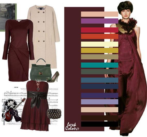 Бордовый цвет одежды какой цвет подходит