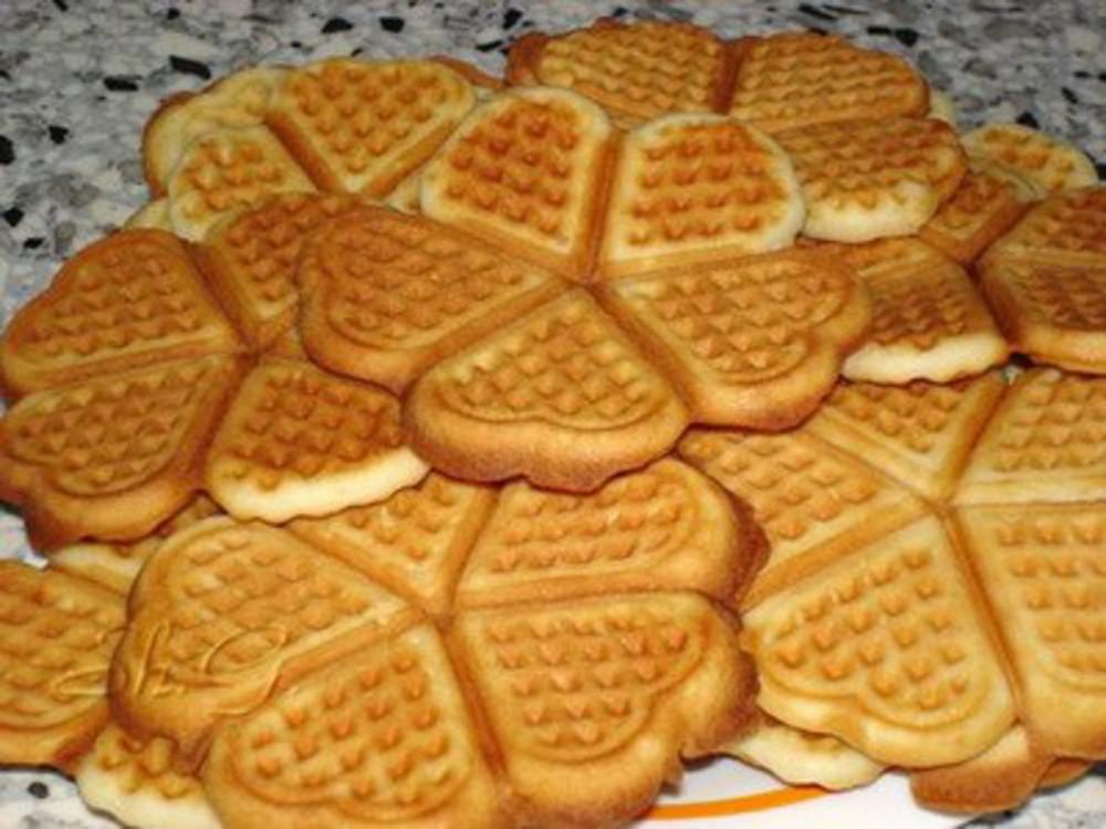 Песочное печенье рецепт пошагово в вафельнице