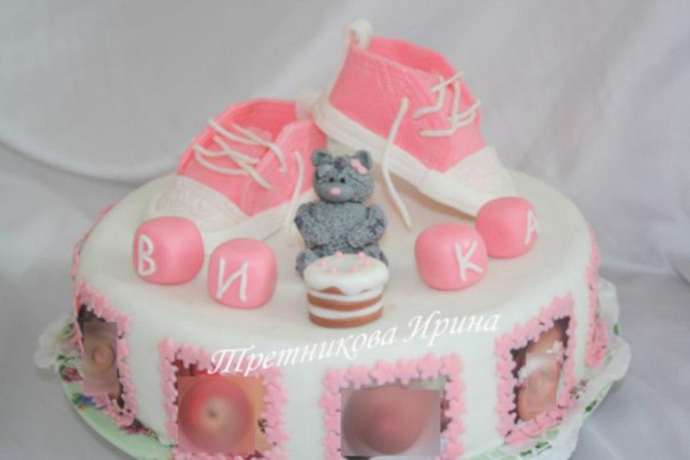 Красивый торт на год ребенку