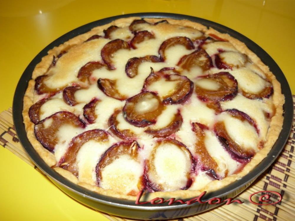 Открытый пирог с черносливом рецепт с