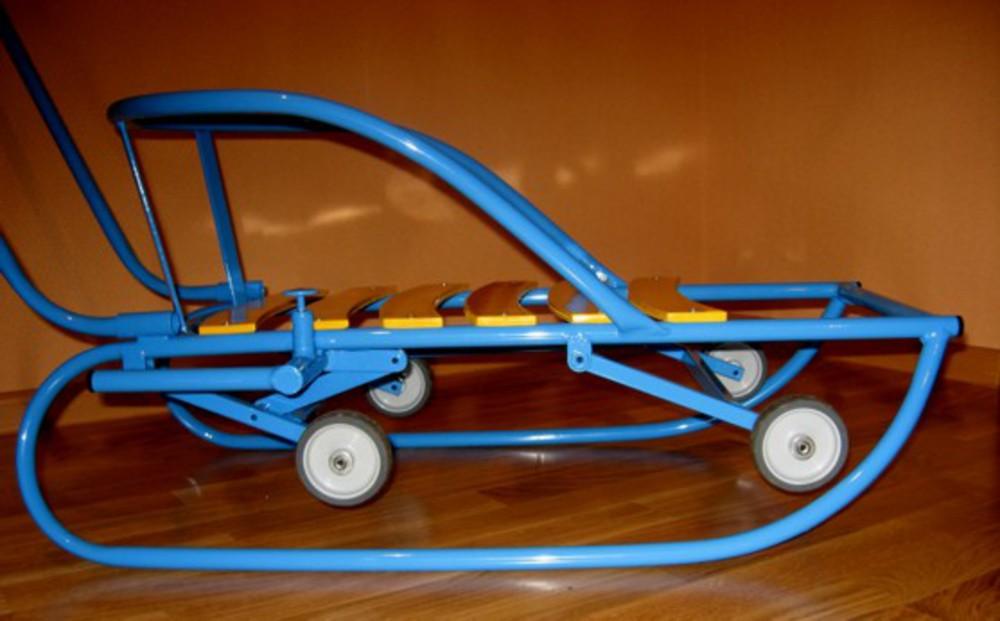 Как сделать санки с колесами