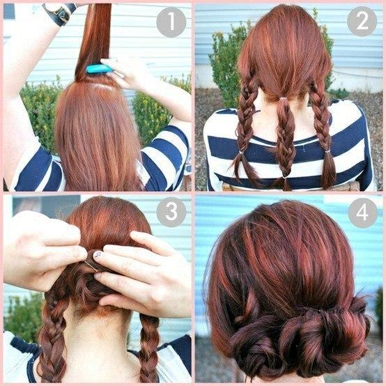 Простые и быстрые причёски из средних волос