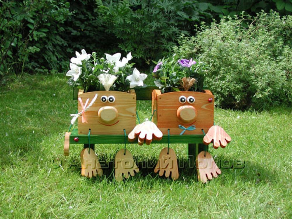 фото деревянных человечков на участок все артисты