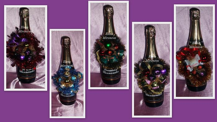 Упаковка для шампанского своими руками