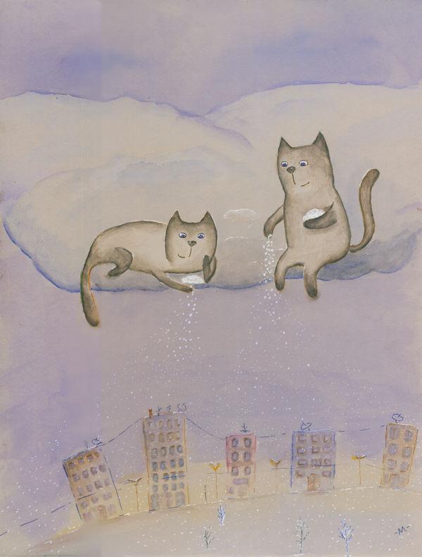 Как котенок зиме удивился картинки для детей