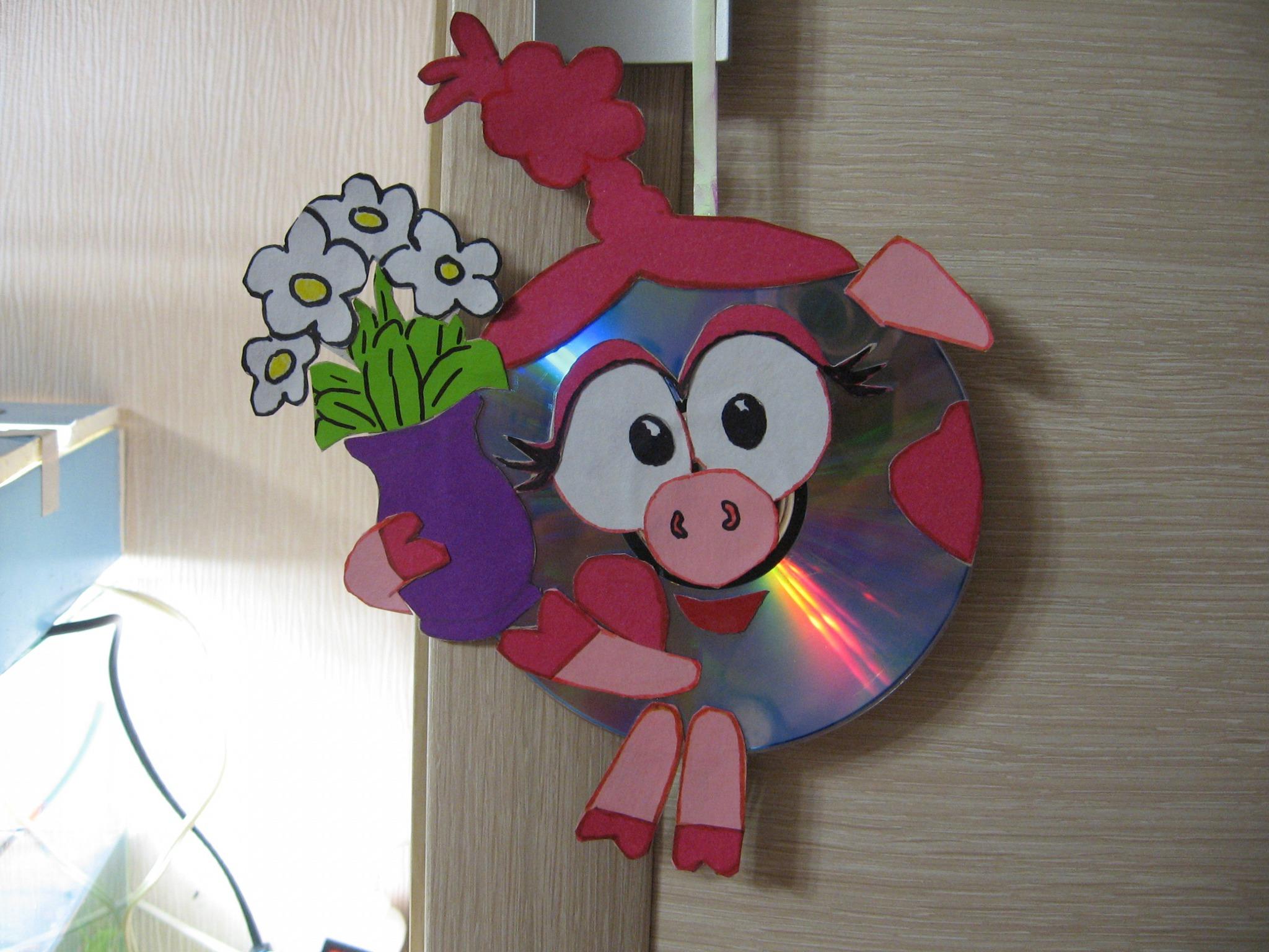 Поделки из дисков для детского сада в картинках