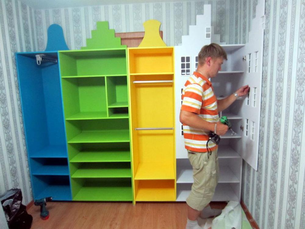 Изготовление шкафов для детской на заказ екатерирьуург.
