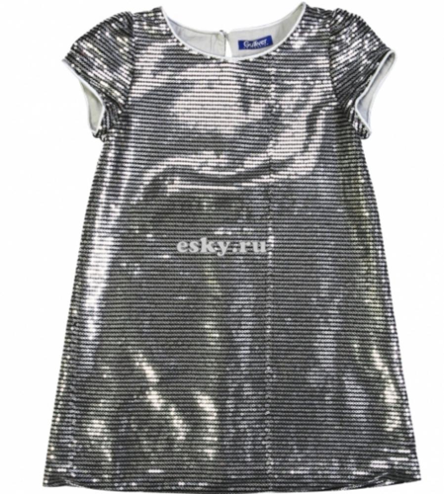 Платье с пайетками для девочки сшить 3
