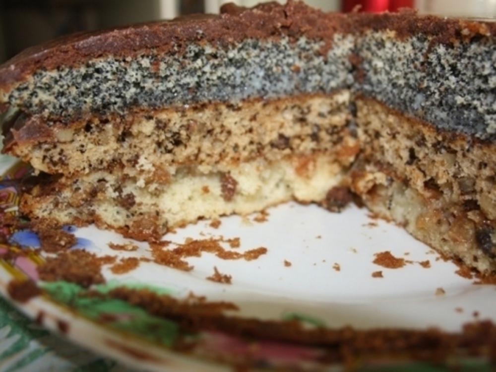 Домашний торт с изюмом маком и орехами рецепт с пошагово в