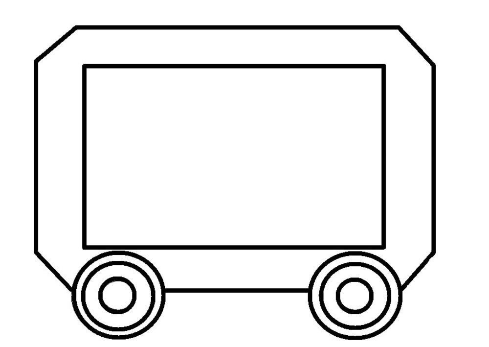 Картинка паровозика с вагончиками черно белый