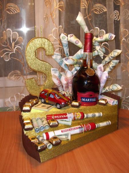 Подарок коньяк поздравление