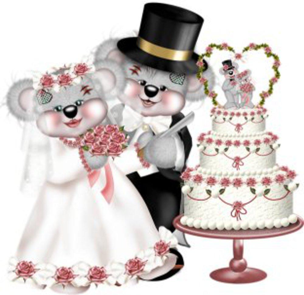 анимационная картинка про свадьбу тумане, озеро