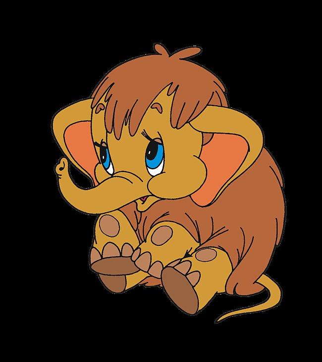 Картинка мамонтенок из мультфильма